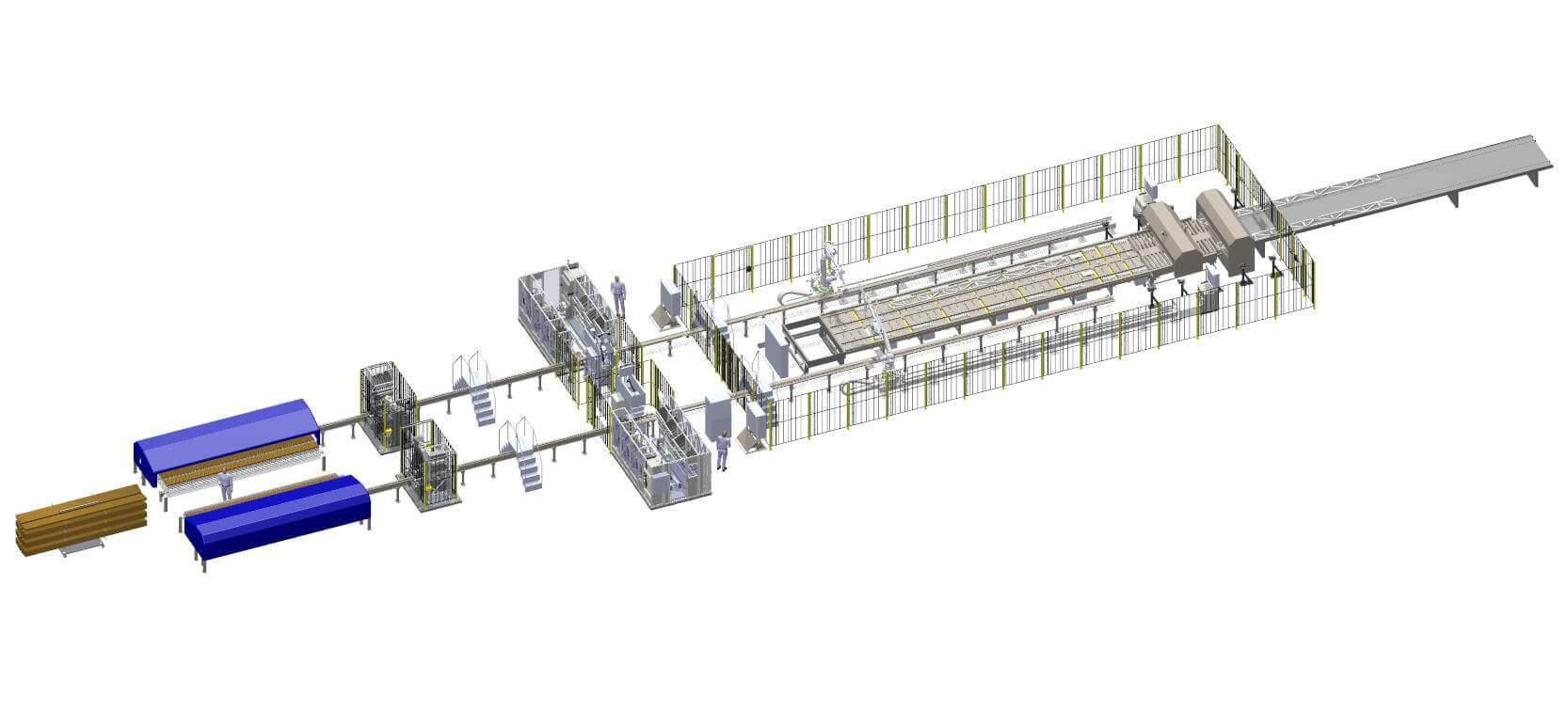 Floor Truss System Rendering