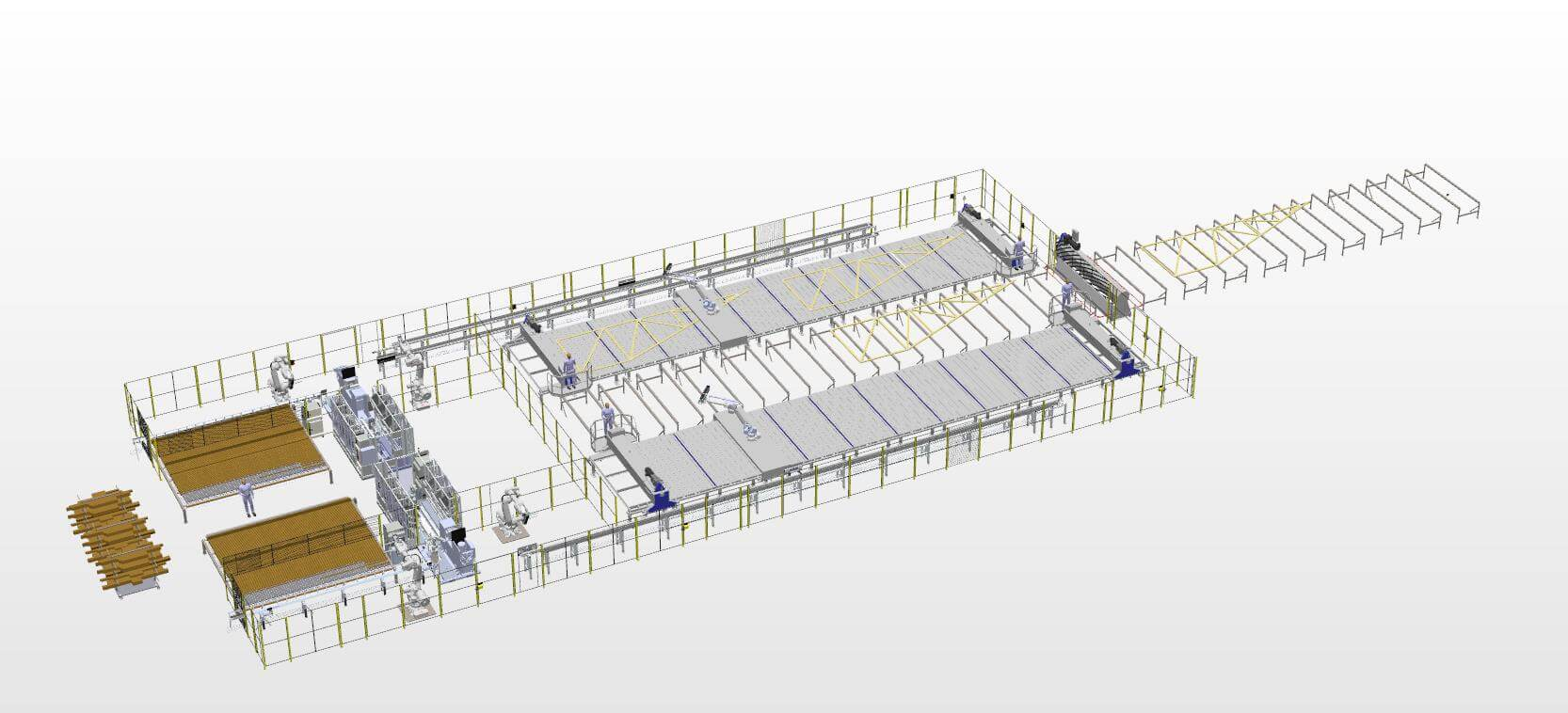 Roof Truss System Rendering